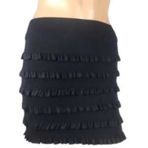 Forever 21 Black Mini Skirt Ruffled